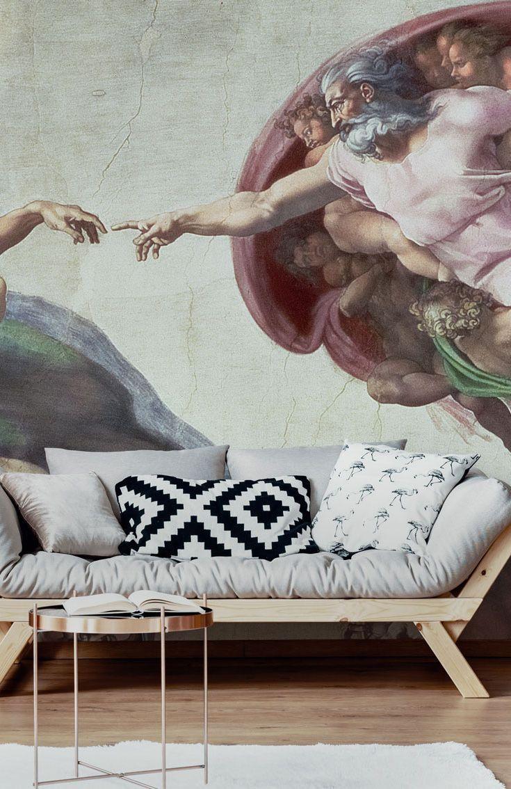 Creation Of Adam Detail Michelangelo Art Ceramic Tile