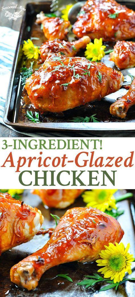 3 Ingredient Apricot Glazed Chicken   Easy Dinner Recipes   Dinner Ideas   Chicken Recipes   Chicken Breast Recipes   Baked Chicken   Whole Chicken Recipes