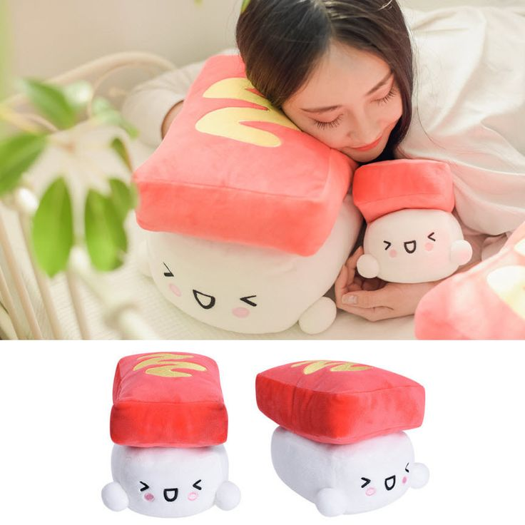 Ham Sushi Series Soft Cushion Doll Toy Bedding Bedroom Decor Cute Plush Pillow