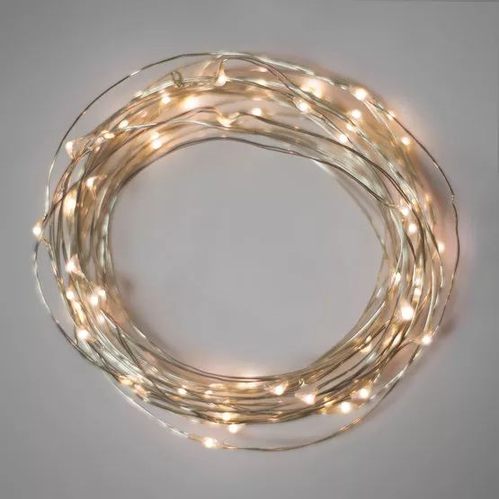 Warm white led fairy lights on silver wire are the perfect craft light! Wrap trees, create mason jar centerpieces and provide elegant illumination in your home, during weddings and at Christmas time too!