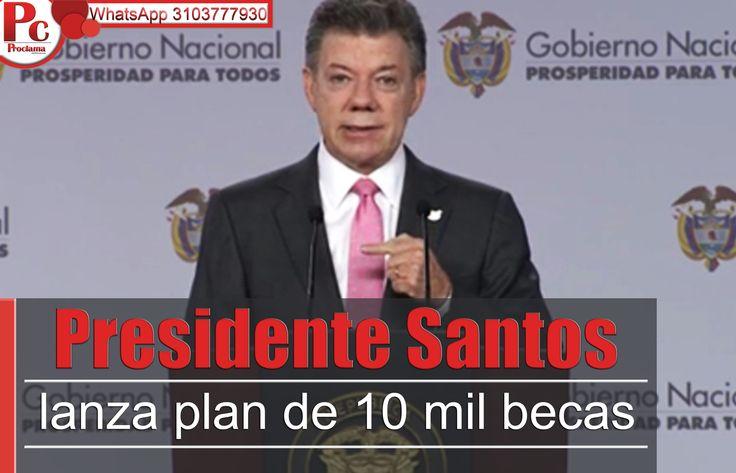 Presidente Santos lanza plan de 10 mil becas para jóvenes de escasos recursos que quieran acceder a la educación superior. Más información: [http://www.proclamadelcauca.com/2014/10/presidente-santos-lanza-plan-de-10-mil-becas-para-jovenes-de-escasos-recursos-que-quieran-acceder-a-la-educacion-superior.html]