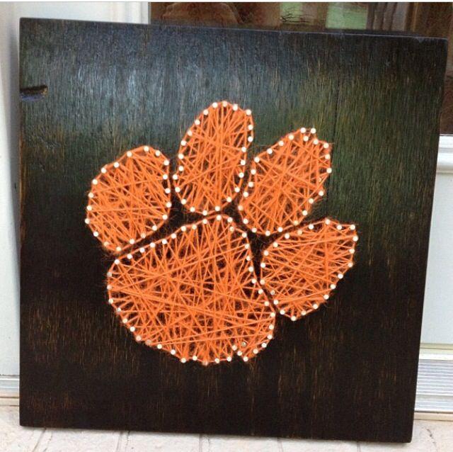 Clemson paw string art
