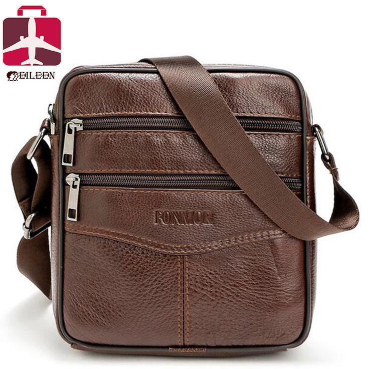 2016 Men Messenger Bags Luxury Genuine Leather Bag Designer High Quality Shoulder Casual Zipper