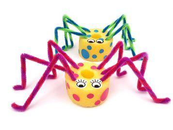 arañas con churros de piscina
