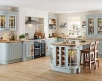 This is Howdens Tewkesbury Blue - which is our kitchen except that the countertops are likely to be granite