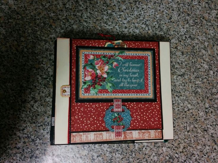 Page 1 of A Christmas Carol mini album with a wonderful collection by Graphic 45