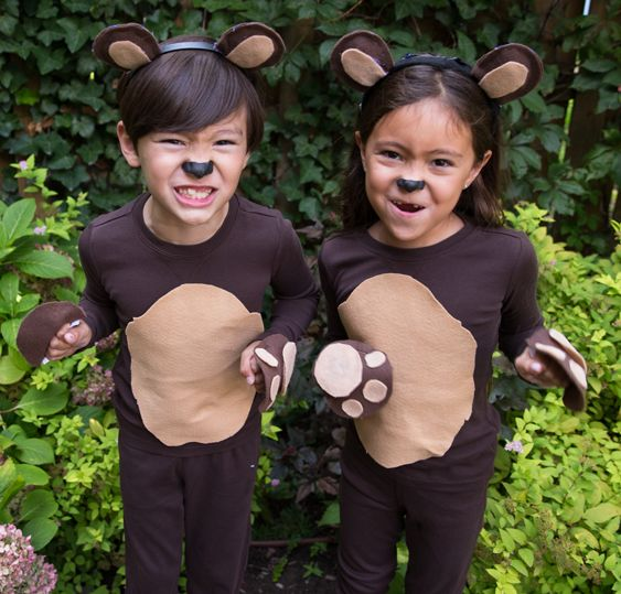 Recreate this easy DIY kids bear costume by starting with super soft Primary basics. Shop solid color basics for kids & baby all under $25!