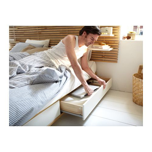"""MANDAL Bed frame with head board - 63x79 1/2 """" - IKEA"""