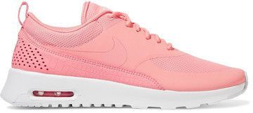 Nike - Air Max Thea Croc-effect Leather-trimmed Coated Mesh Sneakers - Coral #http://shopstyle.it/l/fnmR