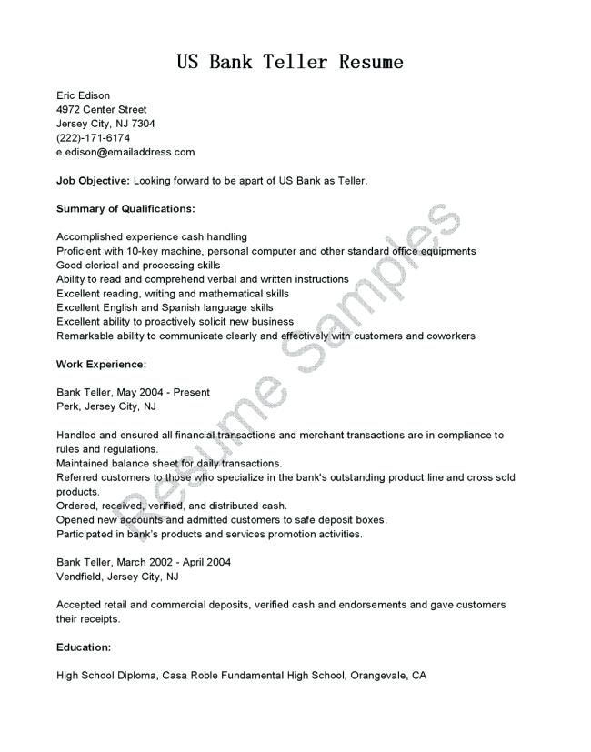 Bank Teller Resume Skills. 20 Best Monday Resume Images On