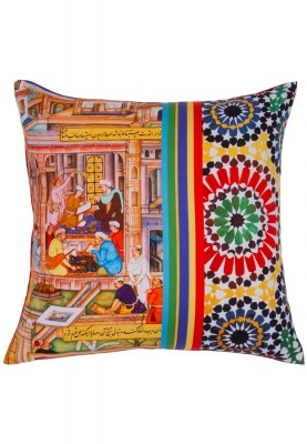 Check out this superb multicoloured cushion cover from the latest collection of Truhome. It has a unique print and will give an ethnic touch to your home surroundings. Buy this cushion cover now!