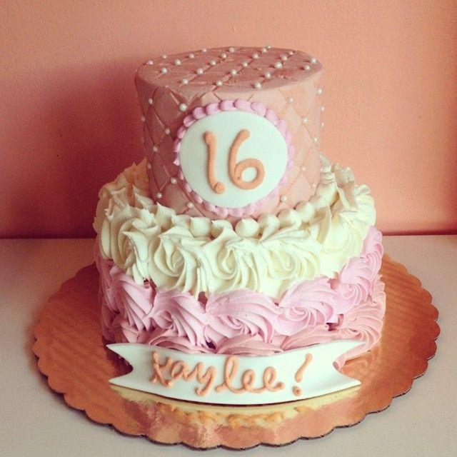 Sweet 16 Pink Birthday Cake By 2tarts Bakery New Braunfels Texas Www