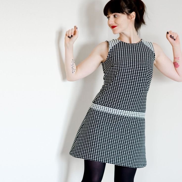 Tilly And The Buttons Francoise Dress. Mod Sixties Mini Dress.