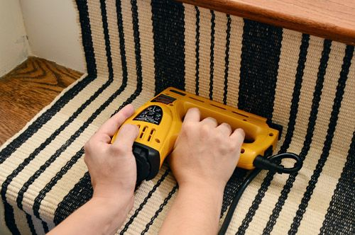 Young House Love: great detailed tutorial for installing stair runner