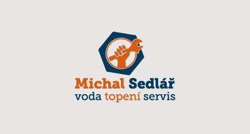 Michal Sedlář, instalatér, zámečník. Logotyp 2016. Plumber, locksmith. Lgotype design 2016.