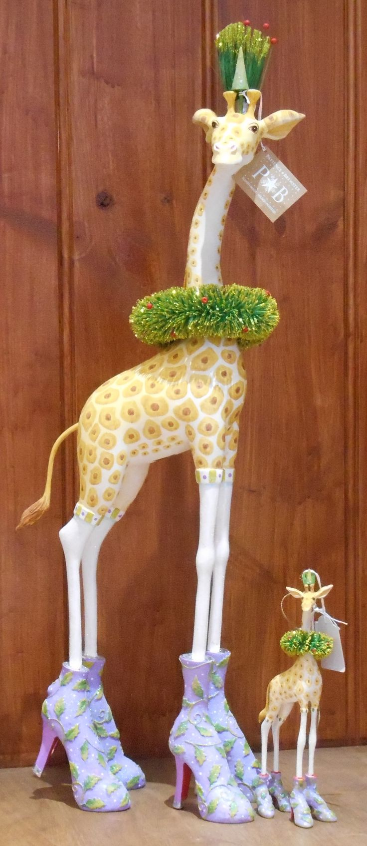 Janet Giraffe....New in is our funky Patience Brewster Collection. You'll find it in our Gift Shop. Patience Brewster, Inc. is a small one artist company creating unique handcrafted ornaments, gifts and textiles from start to finish.