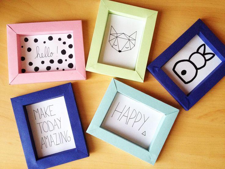 Les 25 meilleures id es de la cat gorie cadres en papier sur pinterest papier cadre photo - Fabriquer cadre photo carton ...