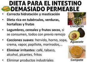 alimentacion dieta para sindrome intestino permeable agujereado hiperpermeabilidad intestinal