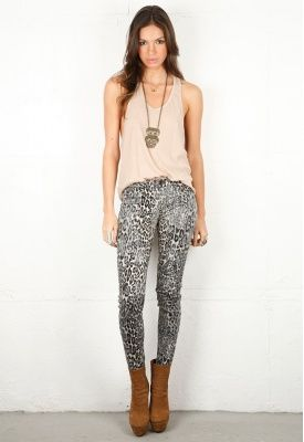 Animalistic denim -- like this one by J Brand -- look good on a size 25 but how does that animal look on a 29? Too much? I want them.