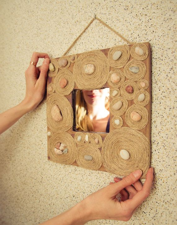 Mirror with gravel by Wudies on Etsy