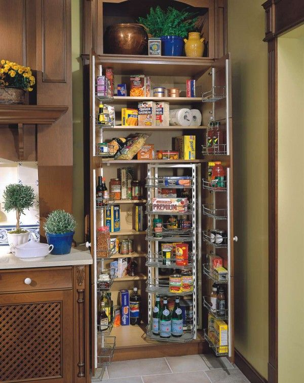 Extraordinary Wood Pantry Cabinet For Kitchen With Swing