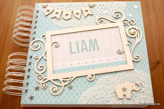 Babyalbum Liam Baby Geburt Taufe Geschenk Fotoalbum
