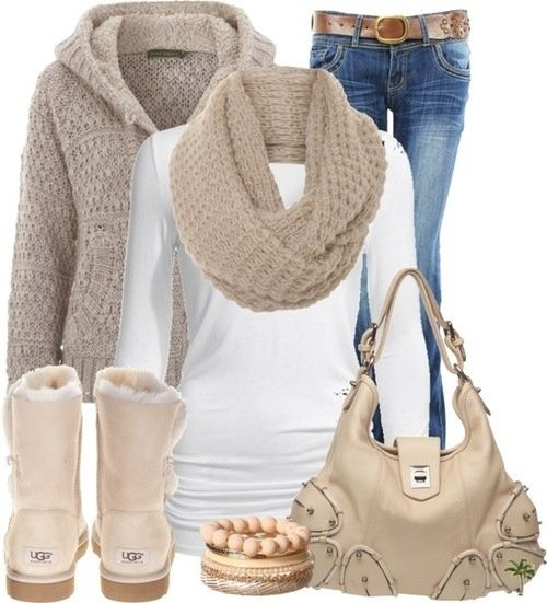 Cozy outfit with uggs and chunky scarf! #uggs www.ugg.ch.gg $85.9 UGG Shoes/Boots is on clearance sale, the world lowest price. The best Christmas gift !