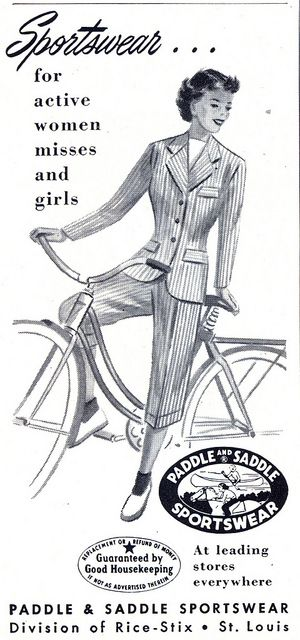 Sportswear for active women and misses (1950).