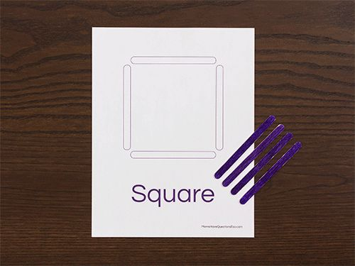 Square Shapes Activity For Toddlers And Preschoolers