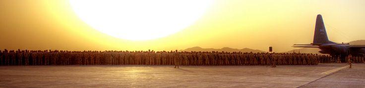 Ramp ceremony. Honoring a fallen comrade, Kandahar Province, Afghanistan