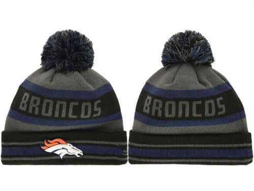 a90a4cd5a7d 2017 Winter NFL Fashion Beanie Sports Fans Knit hat · Denver Broncos ...