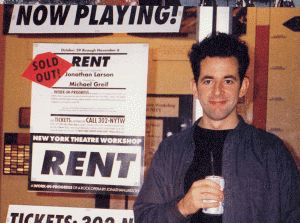 Jonathan Larson '82 was a composer and playwright noted for exploring the serious social issues of multiculturalism, addiction, and homophobia in his work. Typical examples of his use of these themes are found in his works, Rent and tick, tick... BOOM!. He received three posthumous Tony Awards and a posthumous Pulitzer Prize for Drama for the rock musical Rent.