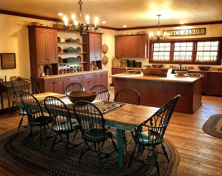 Primitive Kitchen Homes, Country Primitive Kitchen Furniture