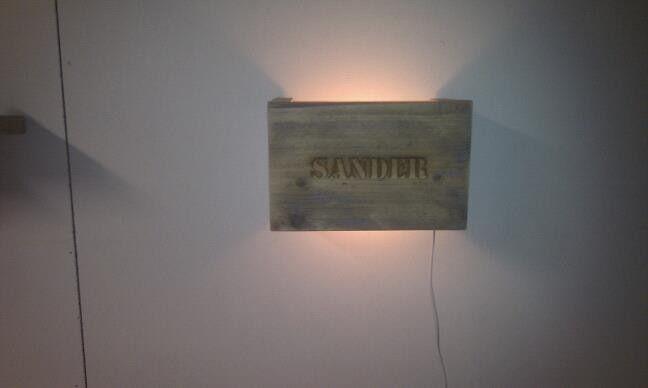 Lampje van steigerhout