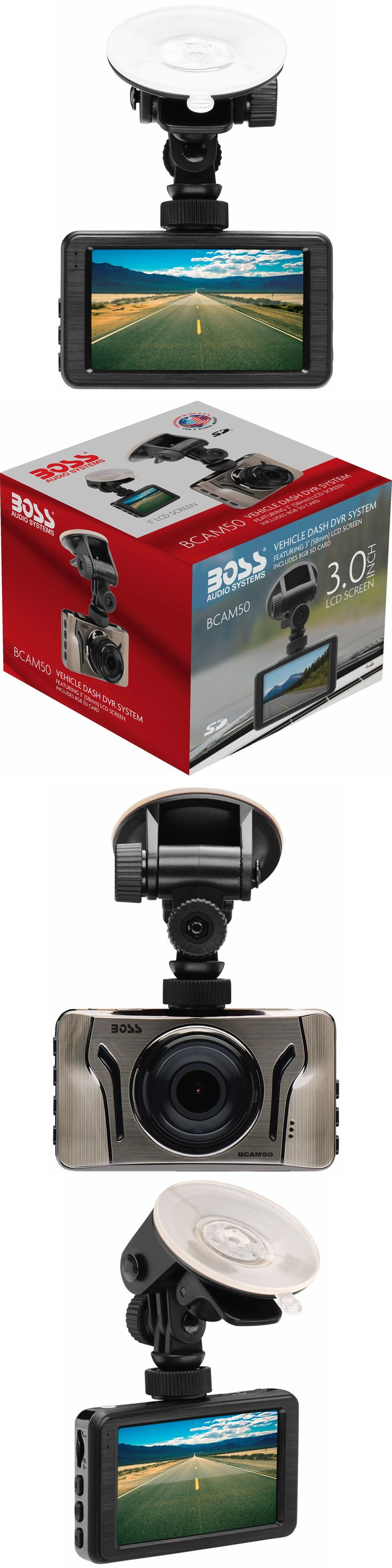 Other Car Video: New Boss Audio 3 Lcd Screen 1080P Full Hd Dash Camera W 8Gb Sd Card Bcam50 -> BUY IT NOW ONLY: $58.99 on eBay!