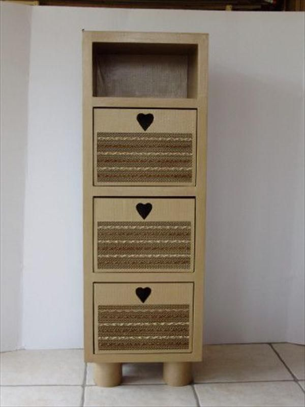 #Storage #Cabinet - 10 Genius DIY Cardboard #Furniture Projects - Get Inspired! | DIY Recycled