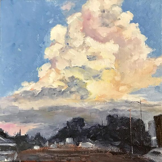 Cumulonimbus cloud painting by Shannon Trevethan
