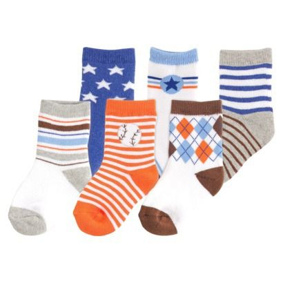 Luvable Friends™ Infant Boys' 6 Pack Cushion Socks - Blue