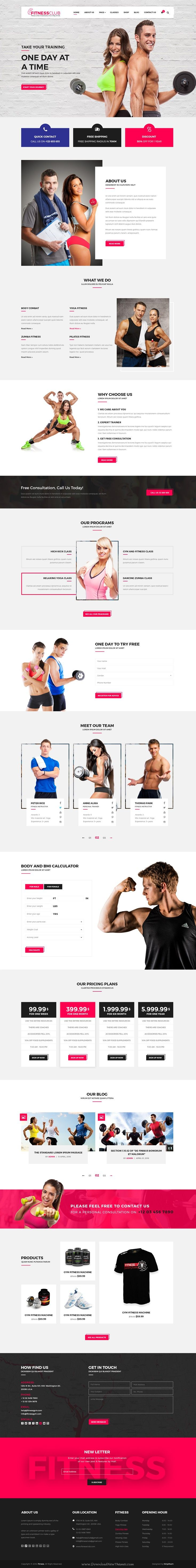 Fitness Club is a modern PSD template for #gym and #fitness services #website…