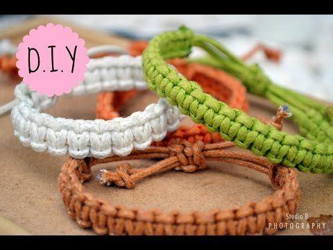 DIY 9# Pulseira da amizade macramê com pingente   Friendship Bracelet - YouTube
