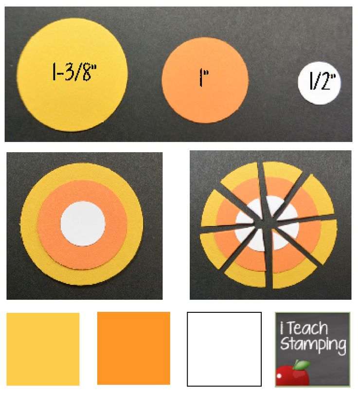 Card Making Embellishment Ideas Part - 36: DIY Card Making - How To Make Punch Art Candy Corn
