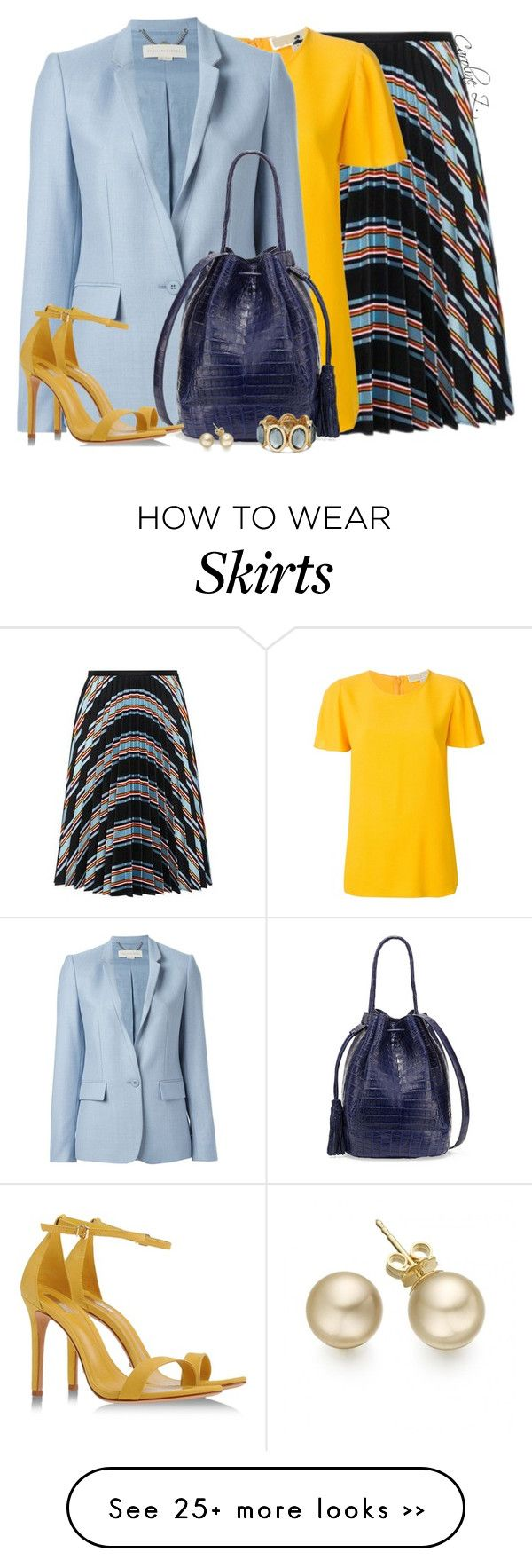 """Pleated Skirt"" by carolinez1 on Polyvore"