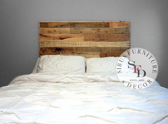 Reclaimed Wood Headboard  Pallet Headboard  SALE by SibusFurniture