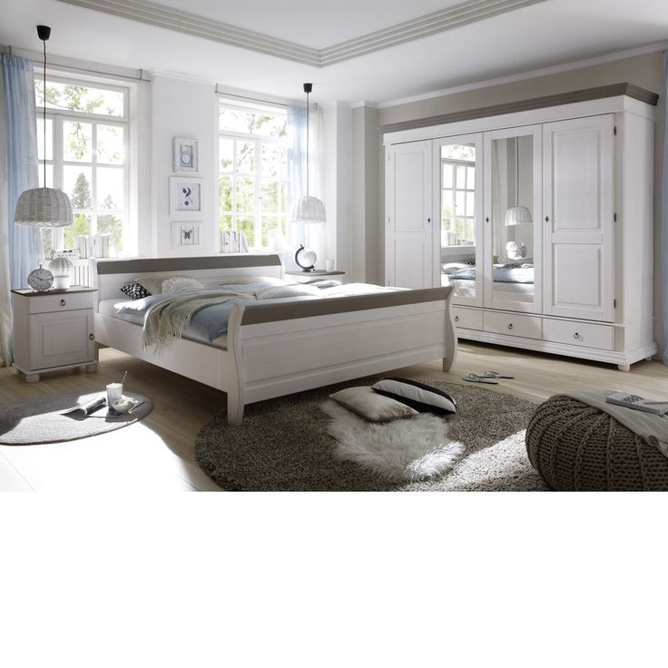 Jugendzimmer Set Luca Pinie Weiß 6tlg Bett 90x200 cm online - hemnes wohnzimmer weis