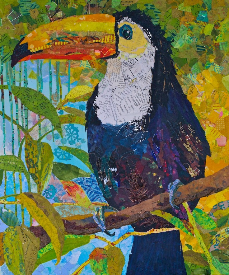 toucan collage, this is amazing