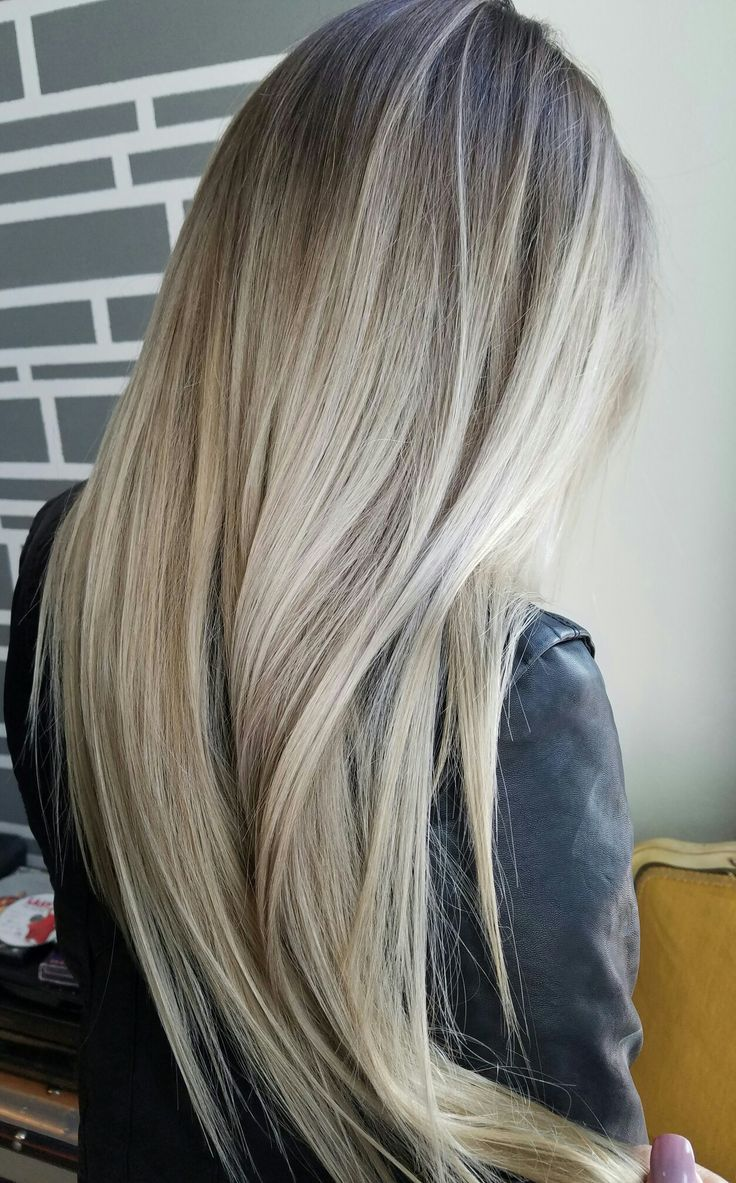 Rooty Blonde | Blonde Balayage on long hair