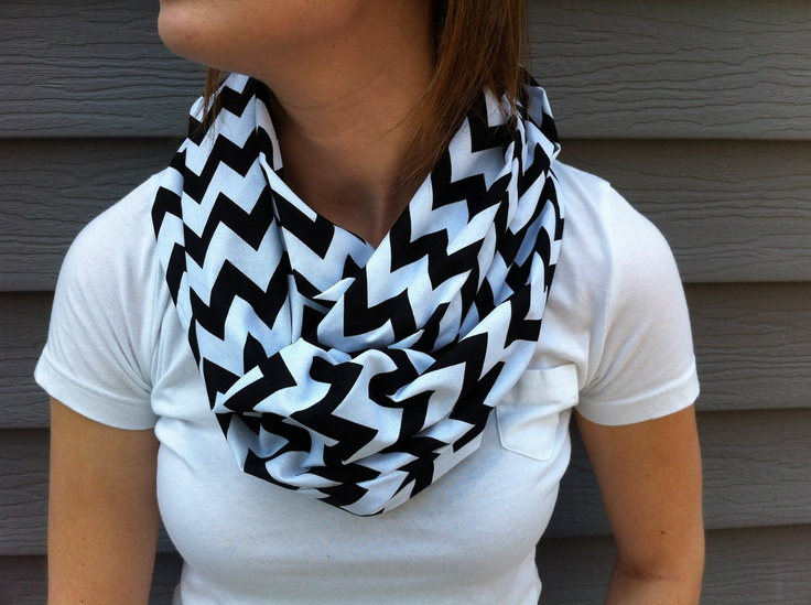 Chevron Infinity Scarf. Love all her scarfs on Etsy.
