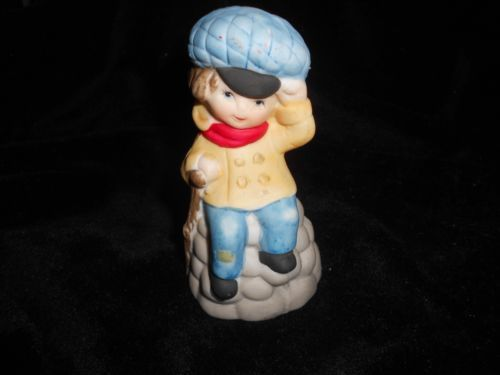 Jasco-Bell-Boy-on-Snow-mound-very-cute-Vintage-collectible-Bell