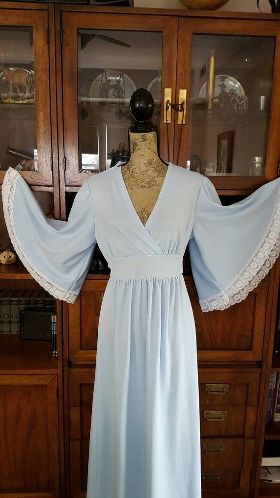 Vintage Prom Dress Baby Blue Festival Dress by LuluandGandore