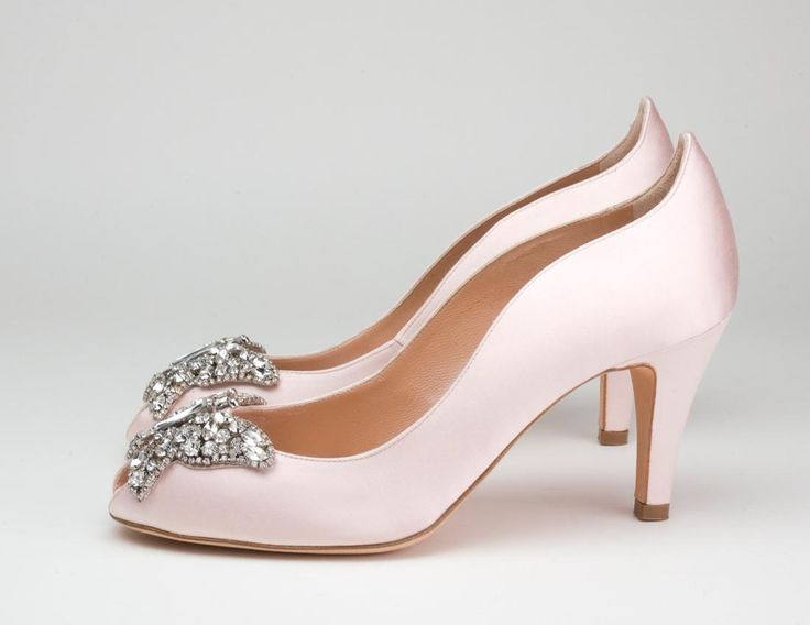 Wedge Wedding Shoes | Light Pink Wedge Wedding Shoes
